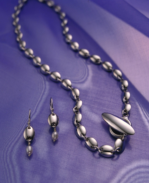 Ellipse necklace and earrings